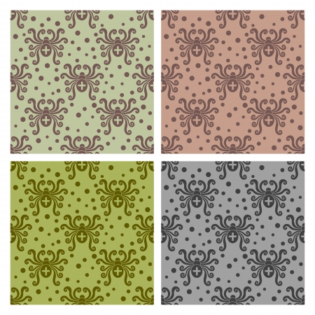 Abstract insect pattern. Spider style. Vector seamless.