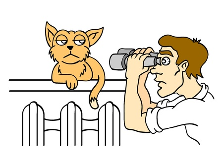 Observation of the cat  Vector illustration  Vector