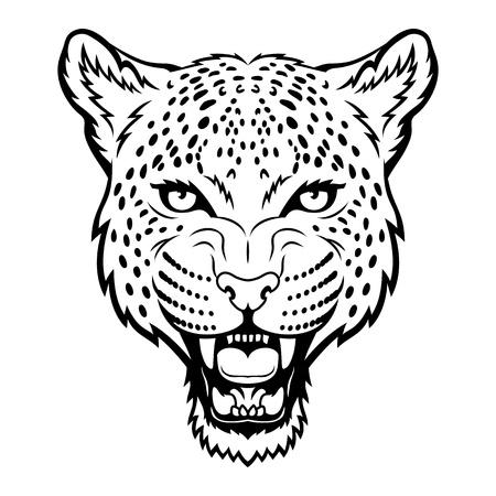 A Leopard head  Illustration