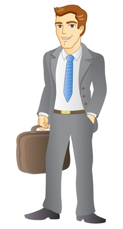 Businessman with a briefcase  Vector illustration  Stock Vector - 19259188