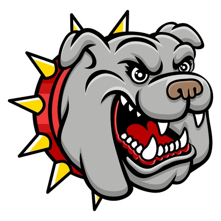 A Bulldog head logo  This is illustration ideal for a mascot and tattoo or T-shirt graphic   Illustration