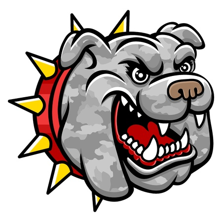 cruel: A Bulldog head  Perfect for paintball mascot in a military style  This is vector illustration ideal for a mascot and tattoo or T-shirt graphic