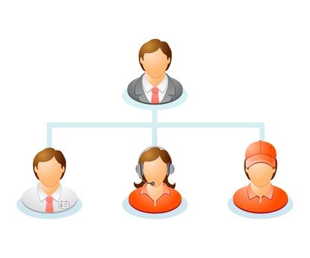 director de escuela: Trabajo en equipo gr�fico de Red flujo de personas El diagrama jer�rquico del sistema de gesti�n de la organizaci�n jer�rquica