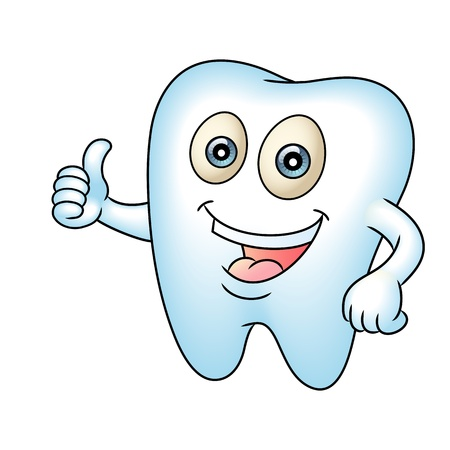Tooth mascot pointing   Thumb up  Perfect for a dental or tooth fairy illustration Vector