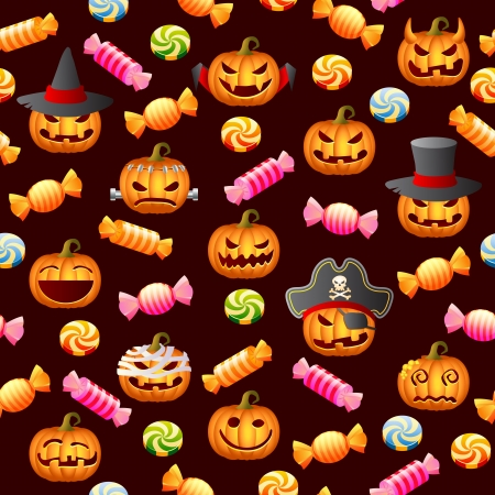 Halloween  seamless  Vector illustration  Vector