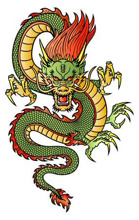 Tradizionale Drago asiatico Archivio Fotografico - 23709613