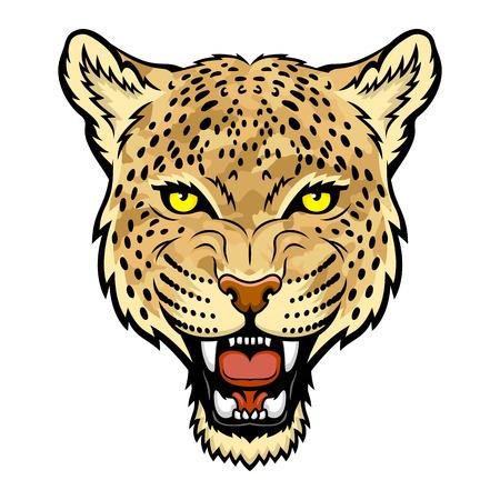 A Leopard head  Vettoriali