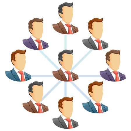 Teamwork flow chart  Network of people  Spider Diagram  Vector illustration Stock Vector - 24194763