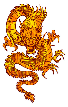 zodiac anger: Traditional Asian Dragon  This is vector illustration ideal for a mascot and tattoo or T-shirt graphic