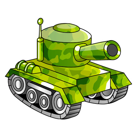 a tank: Cartoon military tank illustration