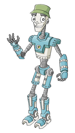 Friendly  robot character  Vector illustration Stock Vector - 27339441
