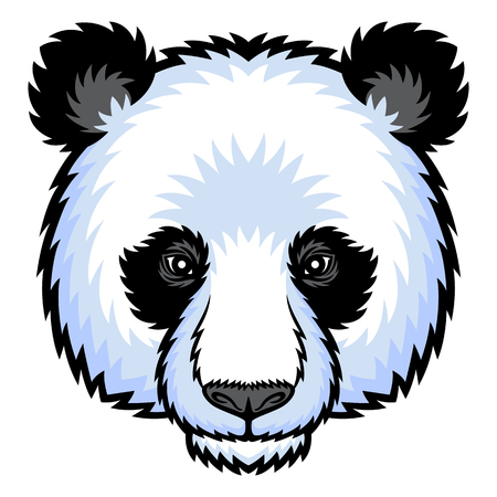 panda bear: A Panda head. This is vector illustration ideal for a mascot and tattoo or T-shirt graphic.