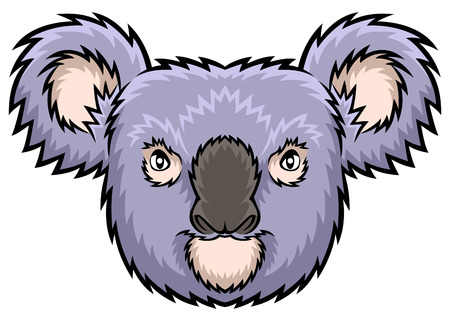 carnivores: A Koala head illustration ideal for a mascot and tattoo or T-shirt graphic.