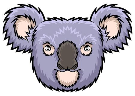 koala: Un ejemplo de la cabeza de la koala ideal para una mascota y el tatuaje o una camiseta gráfica.