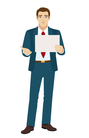 mendicant: Businessman beggar. Unemployed businessman. Down on luck. Vector illustration.