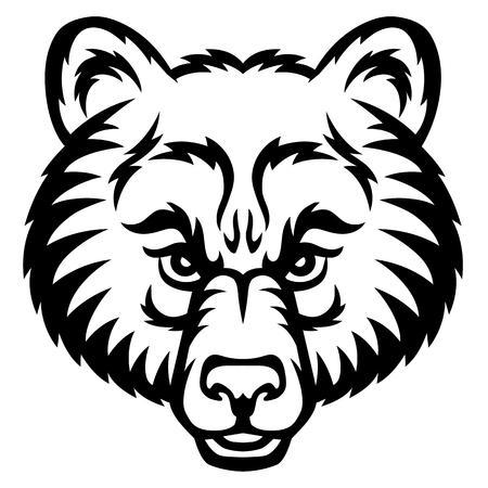 Een beer hoofd logo. Dit is vector illustratie ideaal voor een mascotte en tattoo of T-shirt van de graphic.