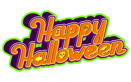 Happy Halloween! Holiday calligraphy greeting. Vector illustration.