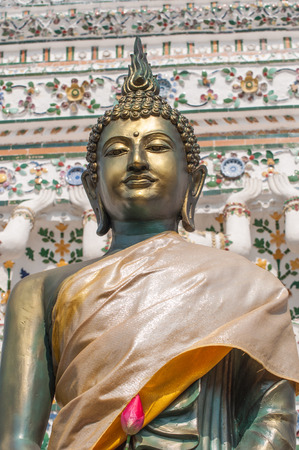 ancient yoga: Buddha standing in Wat Arun Temple