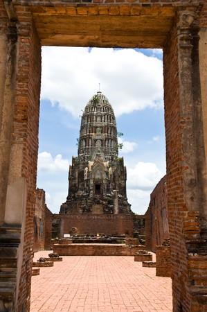 Pagoda old in ayutthaya photo