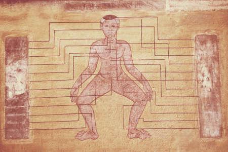 thai massage diagram Editorial