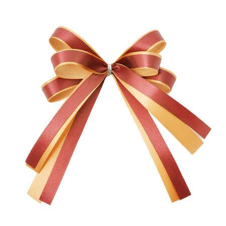 orange ribbon on white