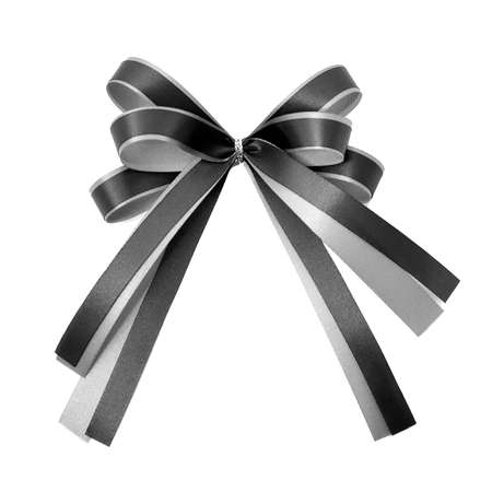 black ribbon on white