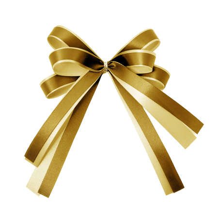 shimmery: gold ribbon on white