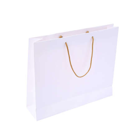 white paper bag ready for shopping isolated