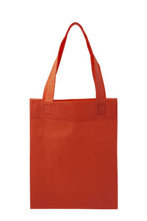 red fabric bag on white background, Isolated