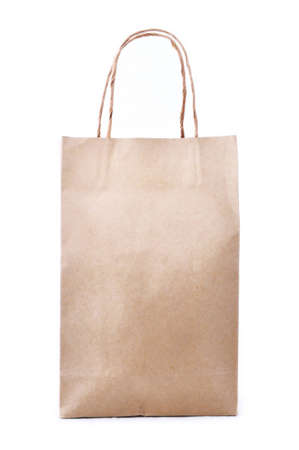 Brown shopping bag made from recycled paper  Stock Photo