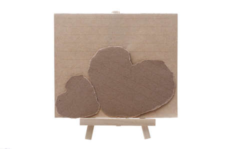 two heart notepad paper