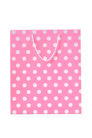 Pink shopping bag isolated on a white background Stock Photo - 12016255