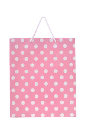 Pink shopping bag isolated on a white background Stock Photo - 12016252