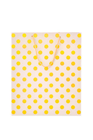 Gold paper shopping bag Stock Photo - 12016199