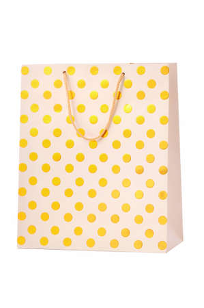 Gold paper shopping bag  Stock Photo - 12016201
