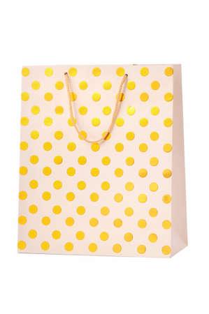 Gold paper shopping bag