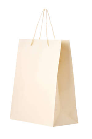 blank paper bag isolated on white background  Stock Photo