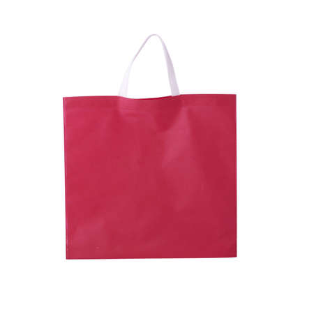 Big red fabric shopping bag