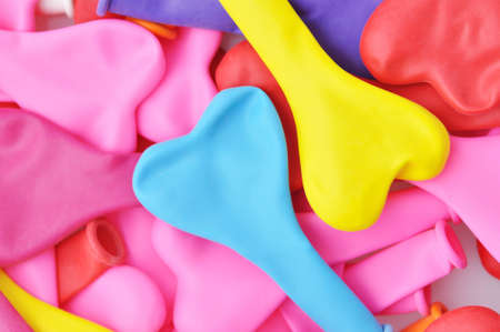 Colorful Heart Shape Balloons.  Stock Photo