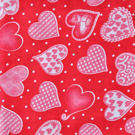 Closeup heart fabric texture  photo