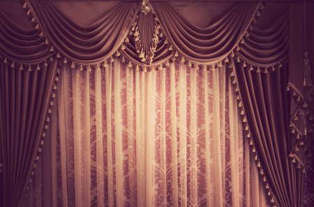 Beautiful vintage curtain background Stock Photo