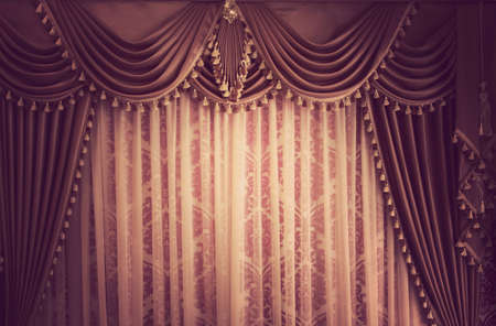 Beautiful vintage curtain background Stock Photo