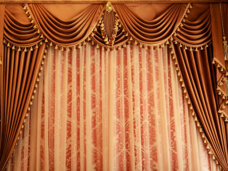 fames: Beautiful vintage curtain background Stock Photo