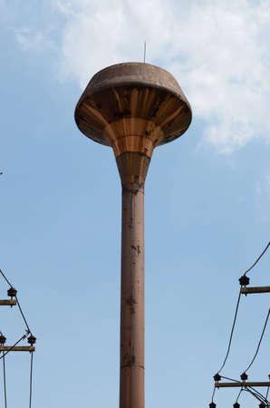 rusty water tank tower