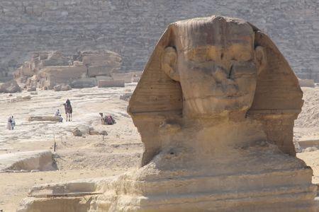 Great sphinx in Giza Cairo Egypt photo
