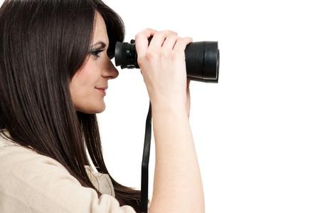 Looking through binoculars