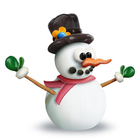 VeggieFruit Christmas Snowman