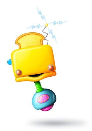 Cartoon Toaster-Bot photo