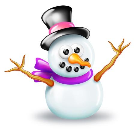 Shiny Christmas Snowman