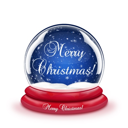 Merry Christmas Snow Globe photo
